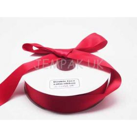 5M x 38mm Double face satin ribbon - Red