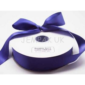5M x 38mm Double face satin ribbon - Regal Purple