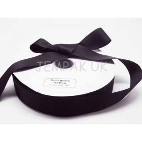 5M x 38mm Grosgrain ribbon - Black