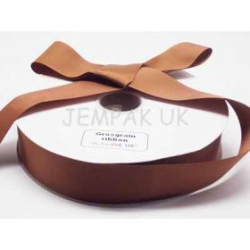 5M x 38mm Grosgrain ribbon - Golden brown