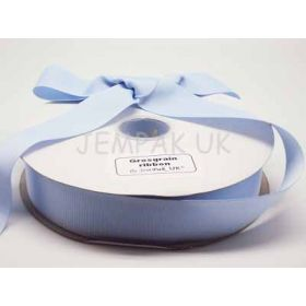 5M x 38mm Grosgrain ribbon - Baby blue