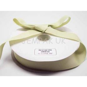 5M x 38mm Grosgrain ribbon - Lime green