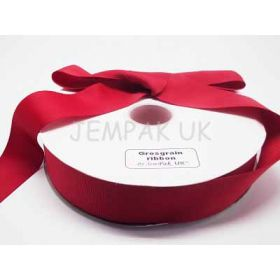 5M x 38mm Grosgrain ribbon - Red