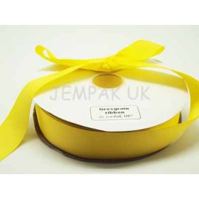 5M x 38mm Grosgrain ribbon - Yellow