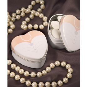 Pack of 10 Wedding Dress favour tins