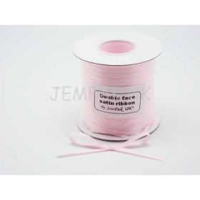 5M x 5mm Double face satin ribbon - Baby pink