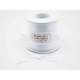 5M x 5mm Double face satin ribbon - Baby blue