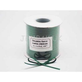 5M x 5mm Double face satin ribbon - forest green