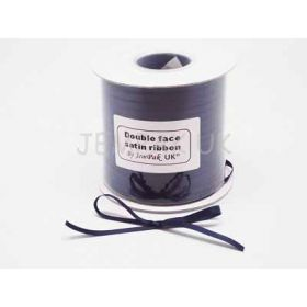 5M x 5mm Double face satin ribbon - Navy blue