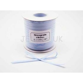5M x 5mm Grosgrain ribbon - Baby Blue