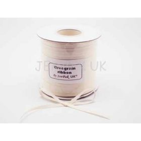 5M x 5mm Grosgrain ribbon- Antique white