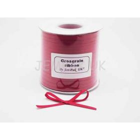 5M x 5mm Grosgrain ribbon - Red
