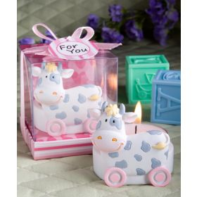 Pink toy cow design Candle Holders favours (Pack of 2)