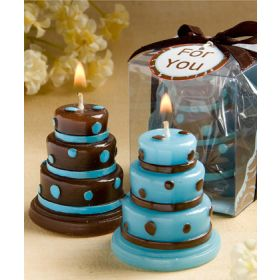 Cake candles blue/brown (Pack of 2)