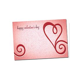 "Pack of 10 ""Happy Valentine's Day"" mini enclosure gift cards (9cm x 6cm)"