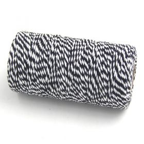 JEMPAK UK® 91.4M x 2mm thick 100% cotton bakers twine  - Black