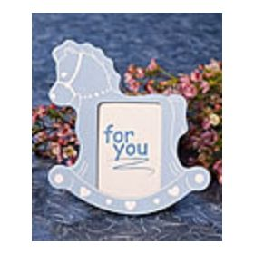 Blue rocking hose picture frame (Pack of 2)