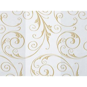 Pack of 10 Swirl gold cellophane bags (10cm x 5cm x 23cm)