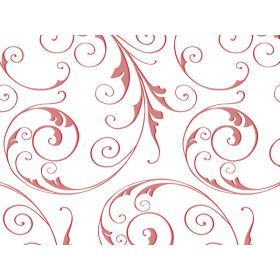 Pack of 10 JEWEL SWIRL FROSTED RED  (10cm x 5cm x 23cm)