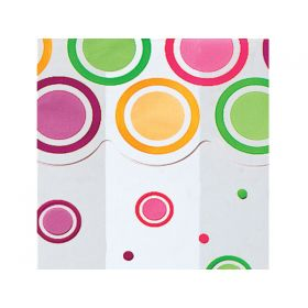Pack of 10 Mod dot bright cellophane bags (13cm x 8cm x 28cm)