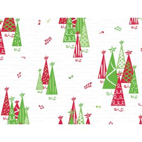 Pack of 10 Xmas Tree cellophane bags (13cm x 8cm x 28cm)