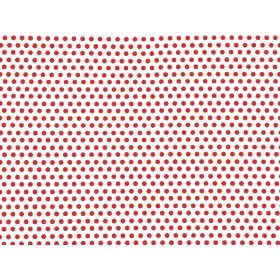 Pack of 10 Red dots cellophane bags (13cm x 8cm x 28cm)