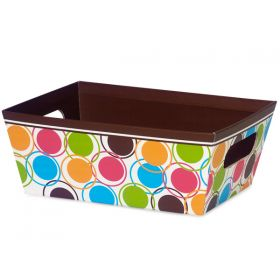 Set of 3 Chocolate designer dots gift trays with wide base (23cm length x 18cm width x 9cm deep)