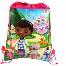 Doc Mcstuffins - kids drawstring backpack gym/swimming/school bag