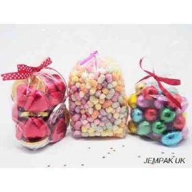 "Pack of 50 Small clear gusseted cellophane sweets / Party / Gift bags (3"" x 1¾"" x 8¼"")"