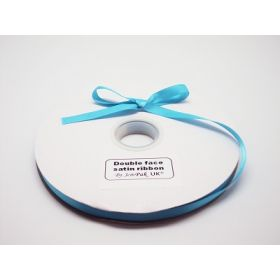 5M x 10mm Double face satin ribbon - Misty Turquoise