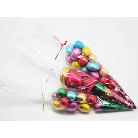"Pack of 100 Cone shaped cellophane sweets / candy / favour / gift bags (12"" x 6"")"