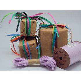 10M CUT Berwick Matte Raffia ribbon - Lavender (adds natural look and enhance gift packages, floral & craft arrangements)