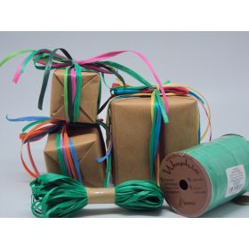 10M CUT Berwick Matte Raffia ribbon - Kelly green