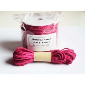 JEMPAK UK 10M x 2mm thick FUSHIA PINK natural Hemp Jute Twine rope