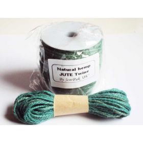 JEMPAK UK 10M x 2mm thick TEAL natural Hemp Jute twine rope