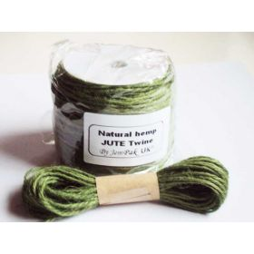 JEMPAK UK 10M x 2mm thick OLIVE GREEN natural Hemp Jute Twine rope