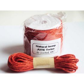 JEMPAK UK 10M x 2mm thick ORANGE natural Hemp Jute Twine rope