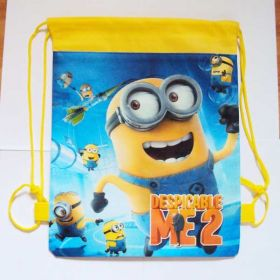 Despicable ME 2 (MINIONS) - kids drawstring backpack gym/swimming/school bag - YELLOW
