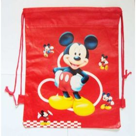 Mickey & Minney mouse - kids drawstring backpack gym/swimming/school bag - RED