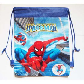 Spiderman - kids drawstring backpack gym/swimming/school bags - BLUE