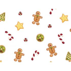 Pack of 20 Ginger bread man cellophane bags ( 9cm x 5cm x 19cm)