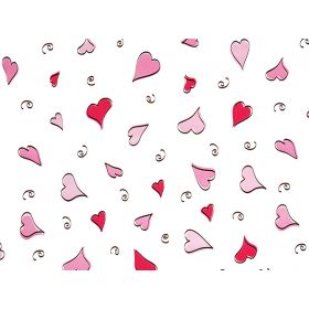 Pack of 10 Swinging hearts cellophane bags (10cm x 5cm x 23cm)