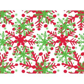 JEMPAK UK Pack of 6 Holly Jolly Flakes printed Xmas Tissue Paper (51cm x 76cm)