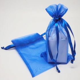 "Pack of 10 Royal organza bags with satin drawstring cord (4"" x 6"")"