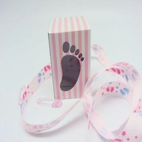 Pack of 10 Pink baby shower favour box