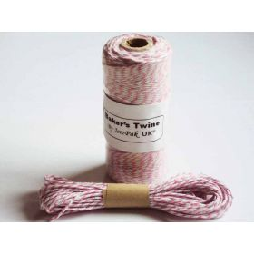 JEMPAK UK 10M x 2mm thick 100% cotton bakers twine  - Pink