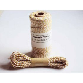 JEMPAK UK 10M x 2mm thick 100% cotton bakers twine  - Dark Yellow