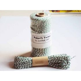 JEMPAK UK 10M x 2mm thick 100% cotton bakers twine  - Forest Green