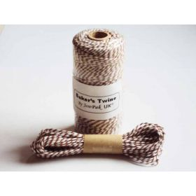 JEMPAK UK 10M x 2mm thick 100% cotton bakers twine  - Brown