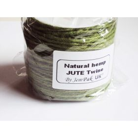 91.4M x 2mm x 2mm thick OLIVE GREEN natural Hemp Jute Twine rope